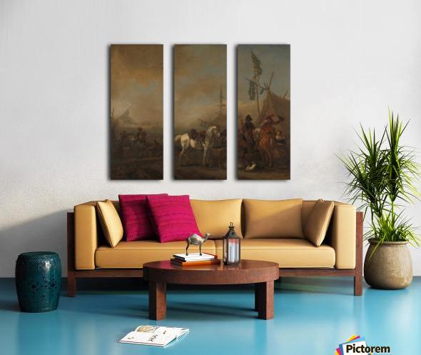 Een legerkamp Rijksmuseum Split Canvas print