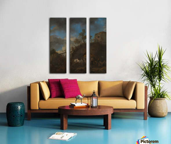 De hoefsmid Split Canvas print