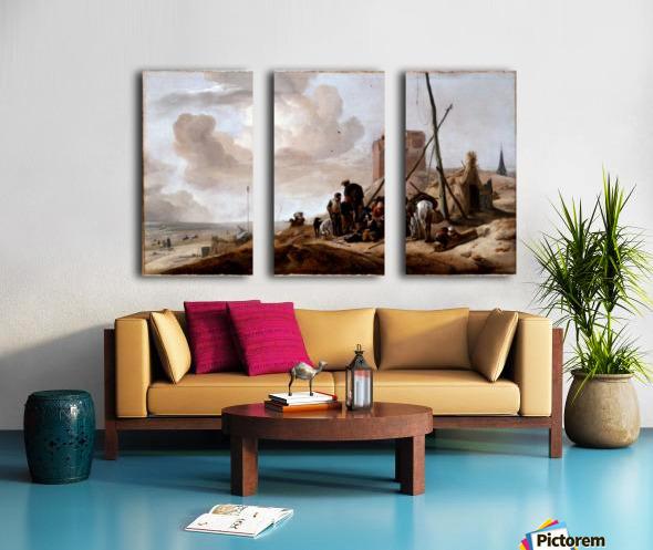 A Coastal Scene Split Canvas print