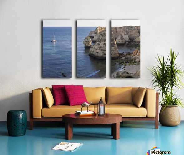 Praia de Marinha Split Canvas print