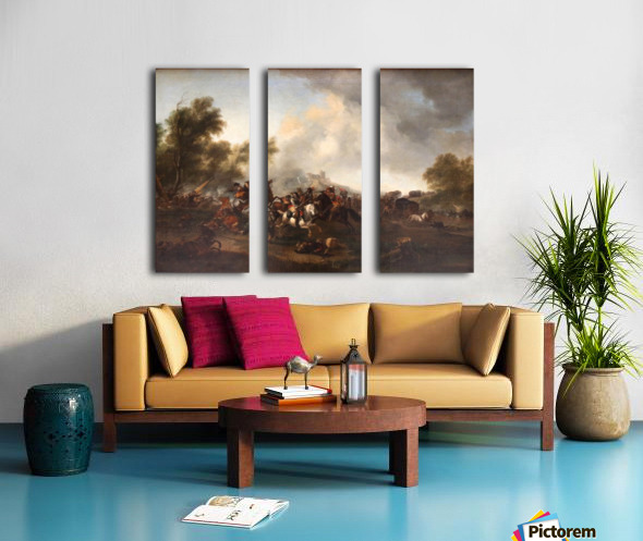 Attaque d un convoi Split Canvas print