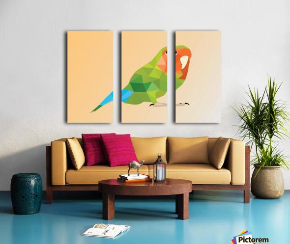 Parrot LOW POLY ART  Split Canvas print