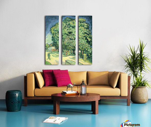 Blossoming chestnut tree by Van Gogh Split Canvas print