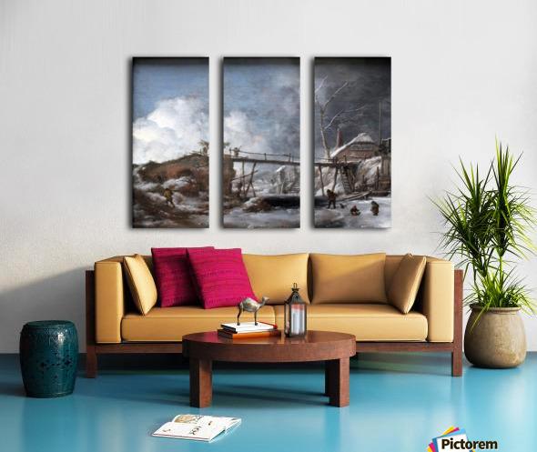 Wouwerman Winterlandschaft anagoria Split Canvas print