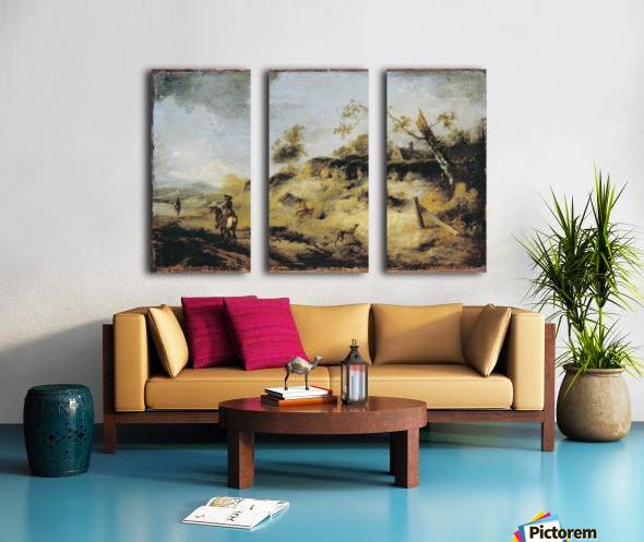 Sandbank with Travellers Split Canvas print