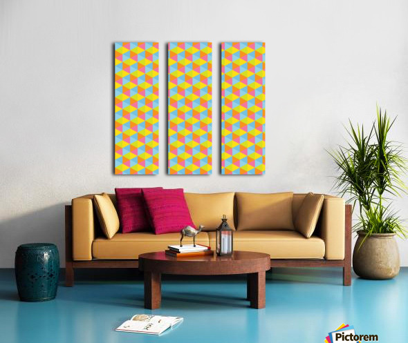 Hexagon Seamless Pattern Artwork Split Canvas print
