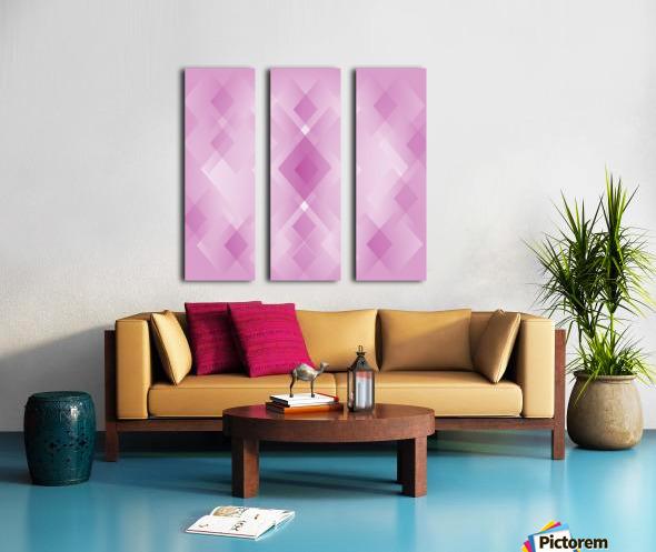 Diamond Shape Pink Art Split Canvas print