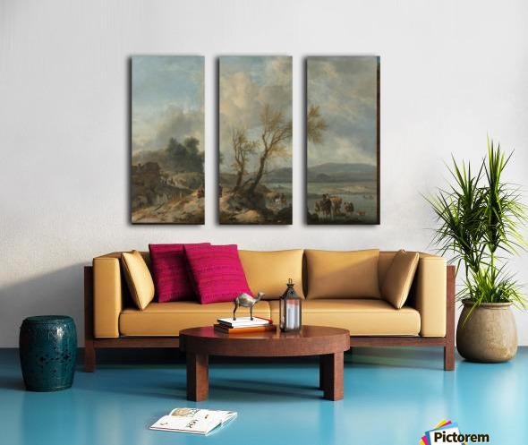 Landschap met zandweg Split Canvas print