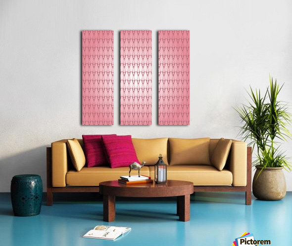 Arabic Pink Art Split Canvas print