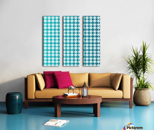 Floral Gradient Seamless Pattern Artwork Split Canvas print