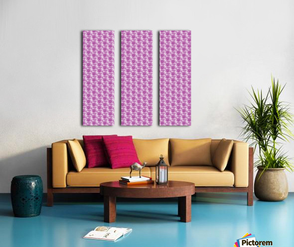Rose Pattern Artwork Split Canvas print
