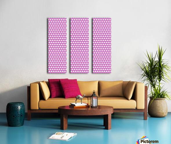 Pink Pattern Artwork Split Canvas print