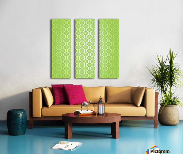 Islamic Green Art Split Canvas print