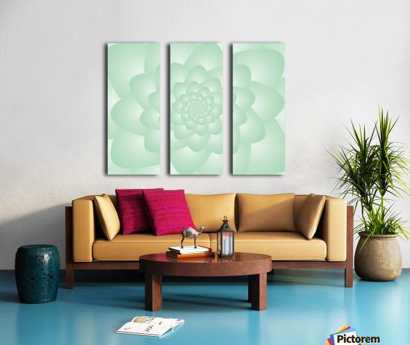 Pastel Green Art Split Canvas print