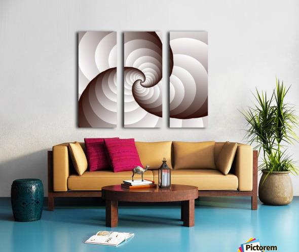 Spirally Split Canvas print