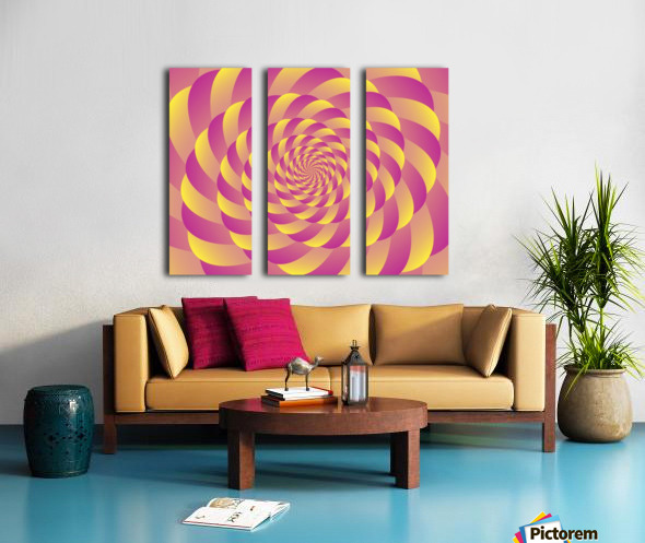 Lollipop Swirl Art Split Canvas print