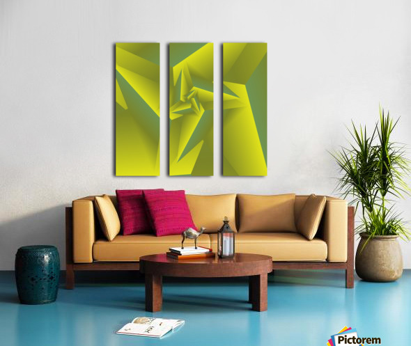 3D Triangle Pattern Art Split Canvas print