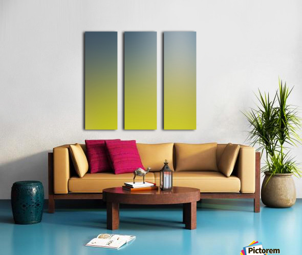 Green Gradient Background Split Canvas print