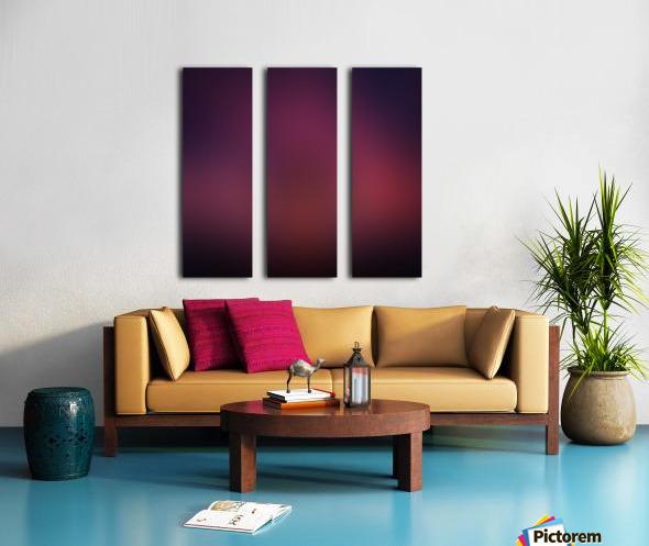 Blurred Red Background Split Canvas print