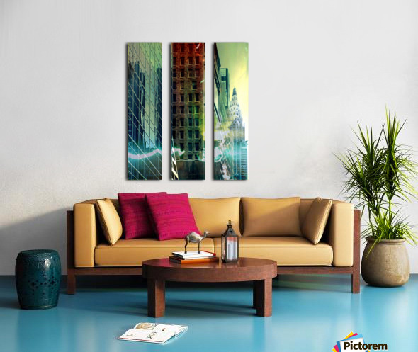 New York Street Split Canvas print