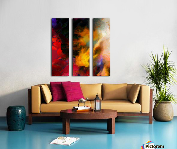 Colorful oil on canvas Split Canvas print