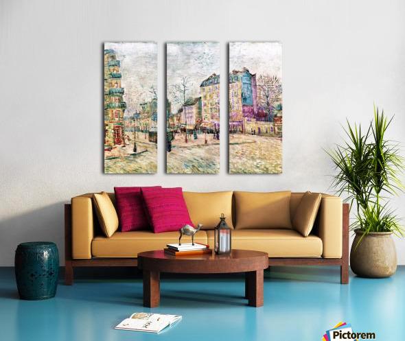 Boulevard de Clichy by Van Gogh Split Canvas print