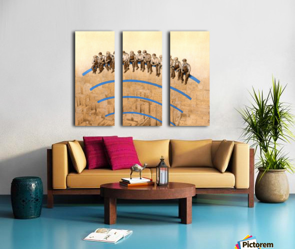 workers Split Canvas print