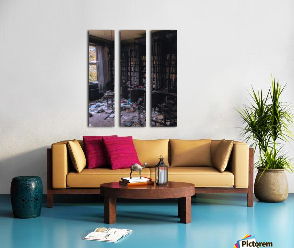 Abandoned Mansion Library Split Canvas print