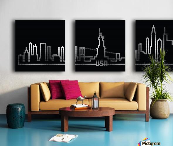 Pixel U.S.A. Split Canvas print