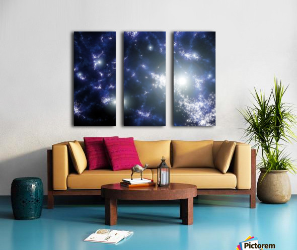 Population III stars clustered together into what will later become galaxies. Split Canvas print