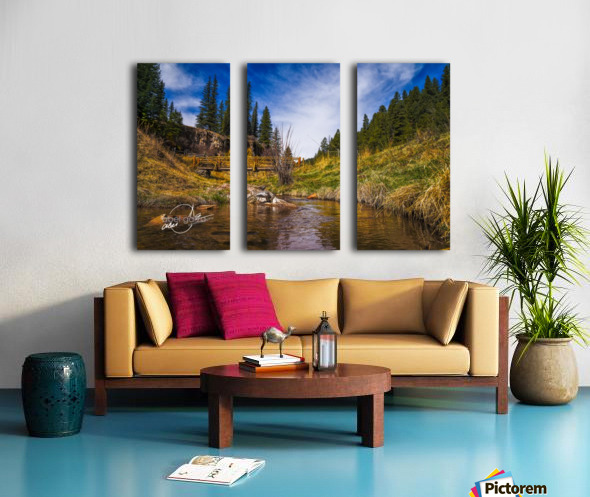 BluffSprings Split Canvas print