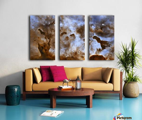 Carina Nebula Star-Forming Pillars. Split Canvas print