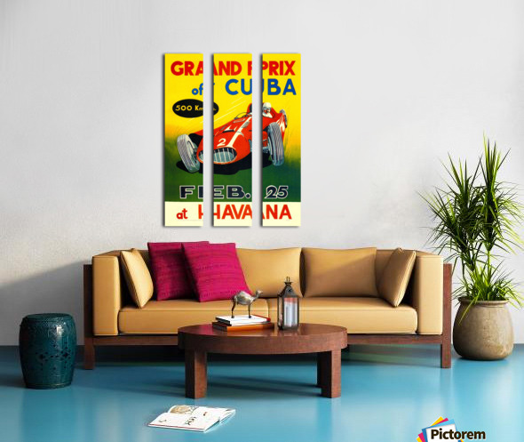 Cuba Grand Prix Havana 1958 Split Canvas print