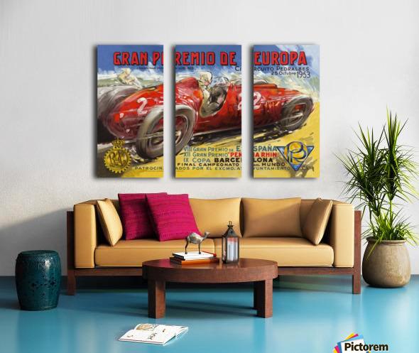 Gran Premio De Europa VII Espana XII Pena Rin IX Barcelona 1953 Toile Multi-Panneaux