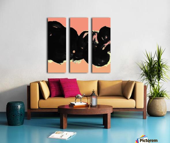 Black Clouds Split Canvas print