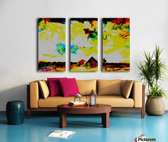 Evening landscape 4 Split Canvas print