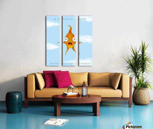 Goldfish Split Canvas print