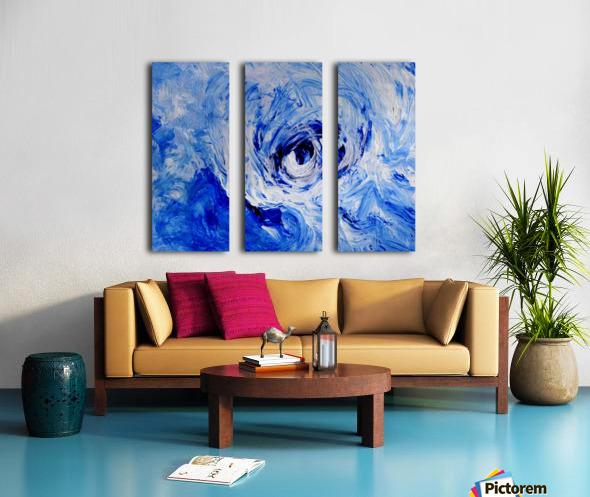 Abstract Storm Split Canvas print