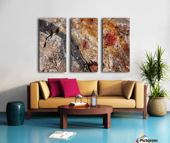 Colors Of Rock Split Canvas print