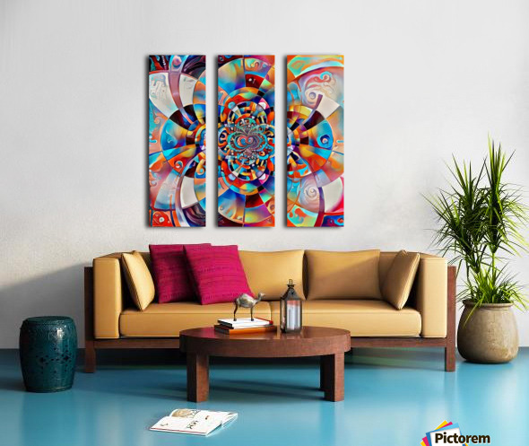 Colorful Fractal Split Canvas print