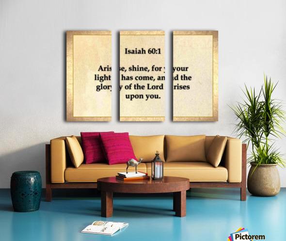 Isaiah 60 1 Split Canvas print