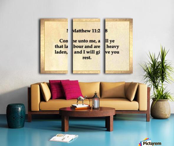 Matthew 11 28 Split Canvas print