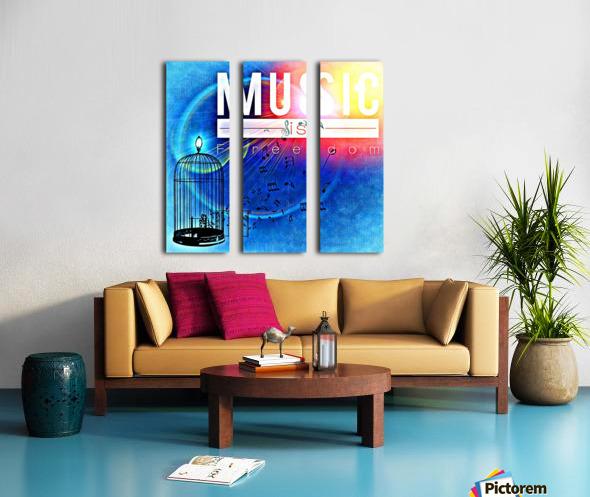 Music_OSG Split Canvas print