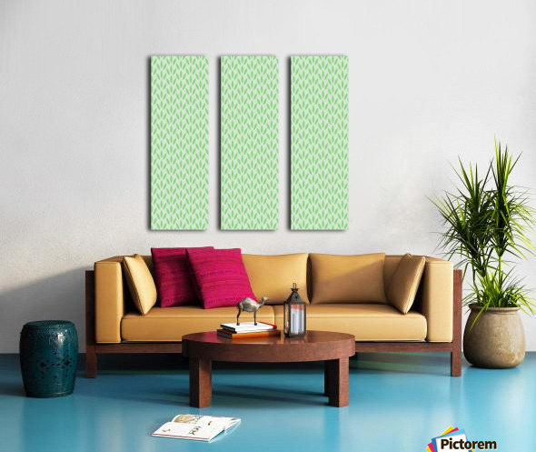 Green Flower Seamless Pattern Background Split Canvas print