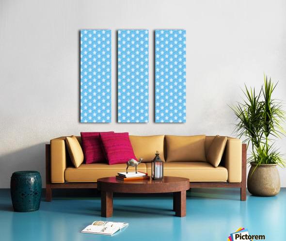 Blue Star Split Canvas print