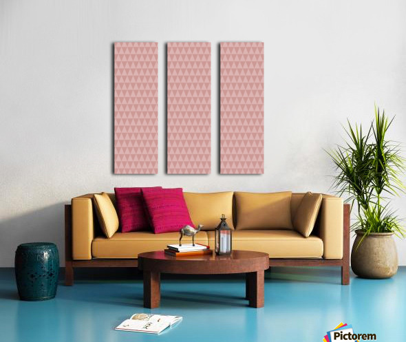 ORANGE Triangle Shape Seamless Pattern Background    Split Canvas print