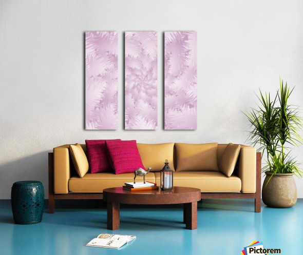 Pink Snowflakes Forest Split Canvas print