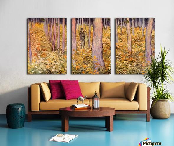 Couple walk in the woods by Van Gogh Split Canvas print