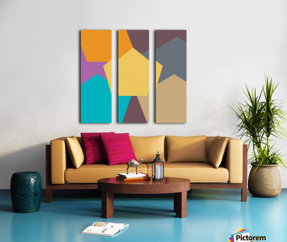 COLORFUL HEXAGON Pattern Split Canvas print