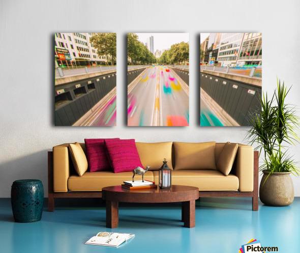 Bruxelles - Colorflow Toile Multi-Panneaux